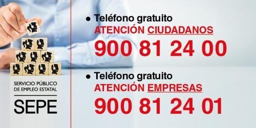 Números atención telefónica SEPE