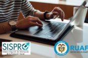 consultar en línea el SISPRO y RUAF