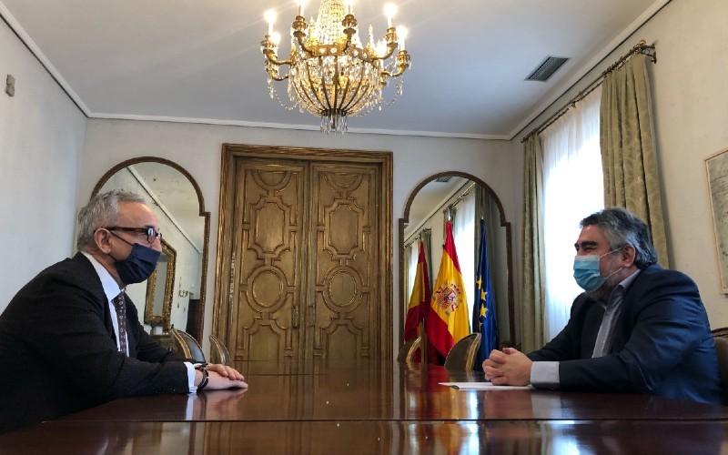 El ministro de Cultura y Deporte y el presidente del COE