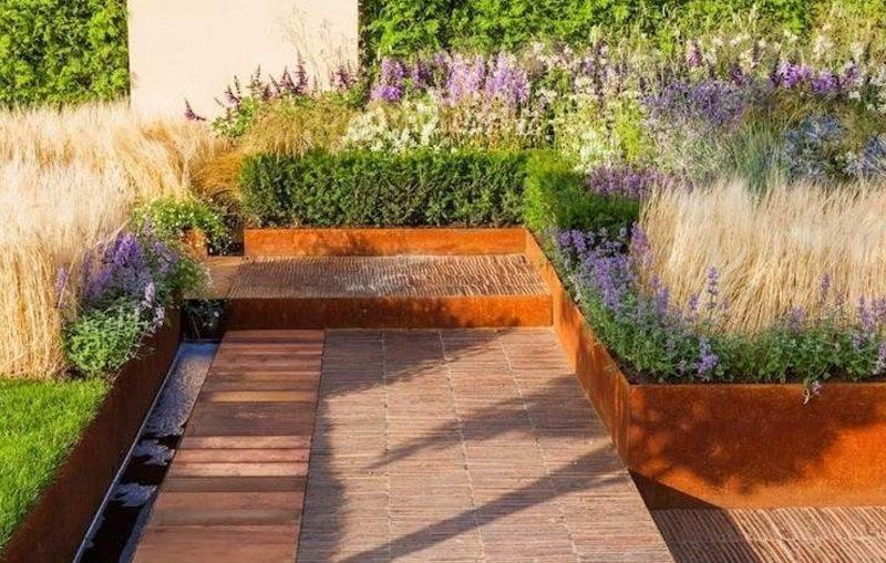 jardineras de acero corten